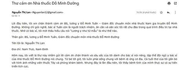 Phản hồi của chị Nguyễn Thị Lan – bệnh nhân đã chữa khỏi dị ứng cơ địa sau liệu trình dùng thuốc tại nhà thuốc Đỗ Minh Đường