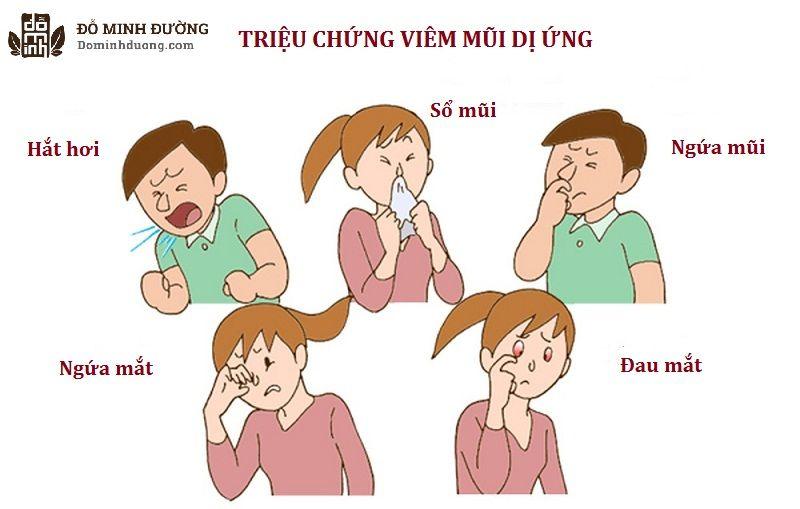 Viêm mũi dị ứng là triệu chứng dị ứng thời tiết thường gặp