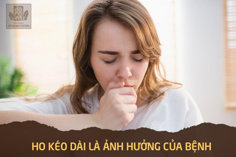 Ảnh hưởng của dịch xoang chảy xuống họng kéo dài