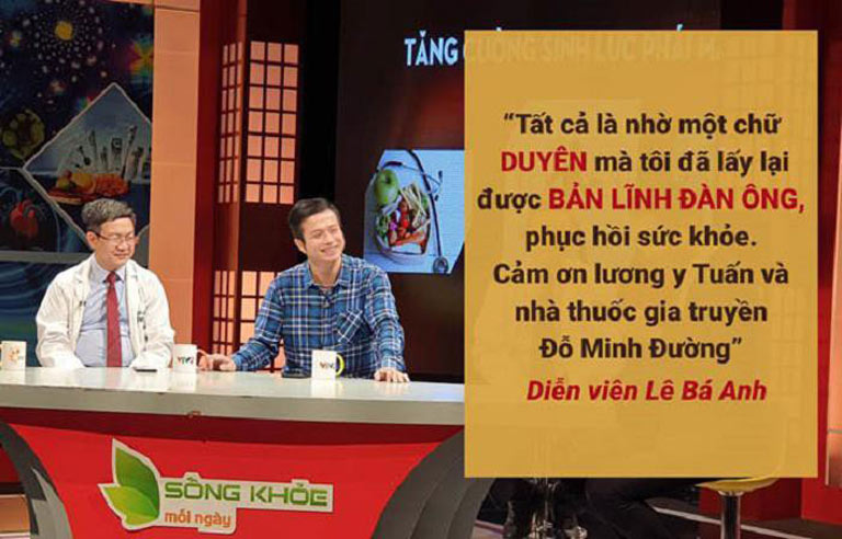 Diễn viên Lê Bá Anh chia sẻ trên tuyền hình về bài thuốc tăng cường sinh lý Đỗ Minh Đường
