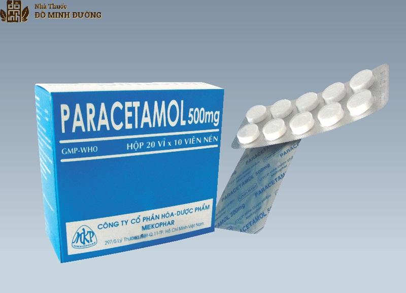 Sử dụng thuốc Paracetamol giúp giảm đau gai khớp hiệu quả