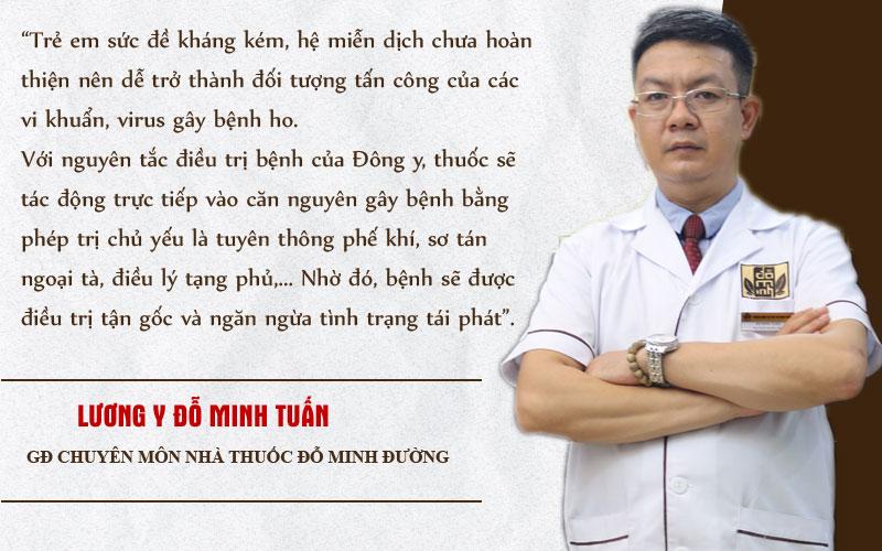 Lương y Tuấn là người trực tiếp tối ưu bài thuốc nam Đỗ Minh Đường chữa ho ở trẻ em