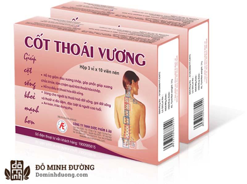 Cốt Thoái Vương là sản phẩm chức năng có tác dụng hỗ trợ điều trị thoái hóa cột sống