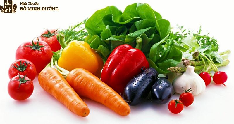 Rau củ quả là thực phẩm có tác dụng hạn chế và làm chậm quá trình thoái hóa