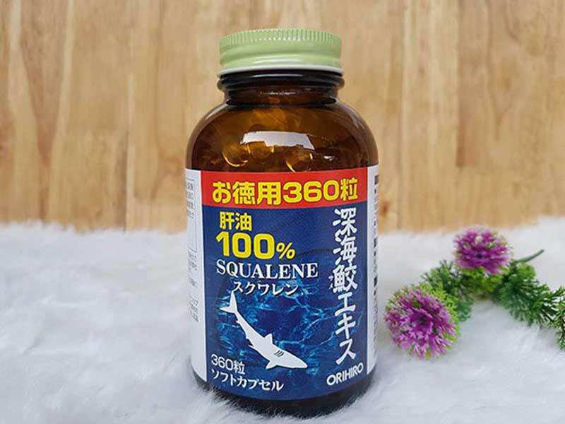 Sụn vi cá mập Orihiro Squalene là một viên uống bổ sung có nguồn gốc từ Nhật Bản
