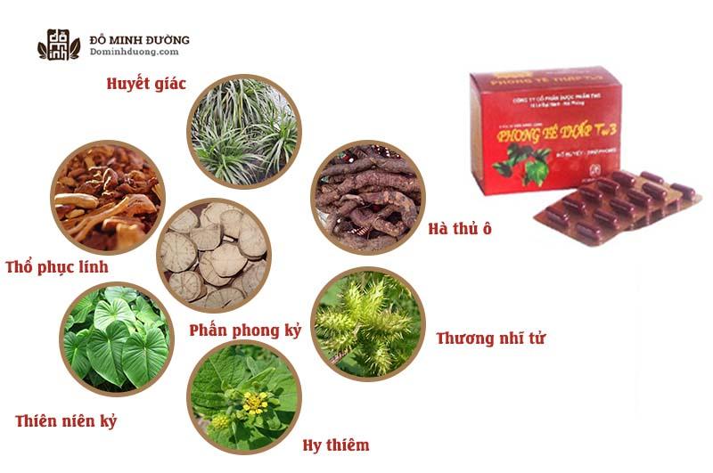 Phong thấp TW3 được bào chế hoàn toàn từ những thảo dược quý trọng tự nhiên