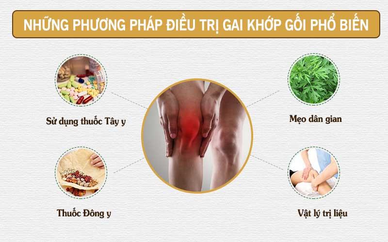 Các phương pháp điều trị gai khớp gối phổ biến hiện nay