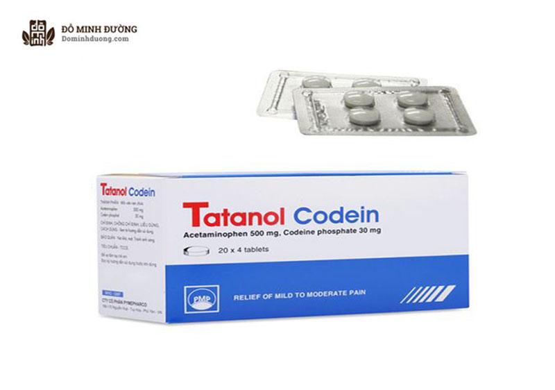 Thuốc Tatanol Codein có tác dụng giảm viêm đau khớp, viêm da...