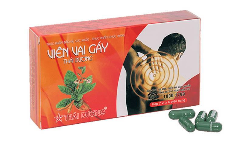 Bao bì sản phẩm Viên vai gáy Thái Dương