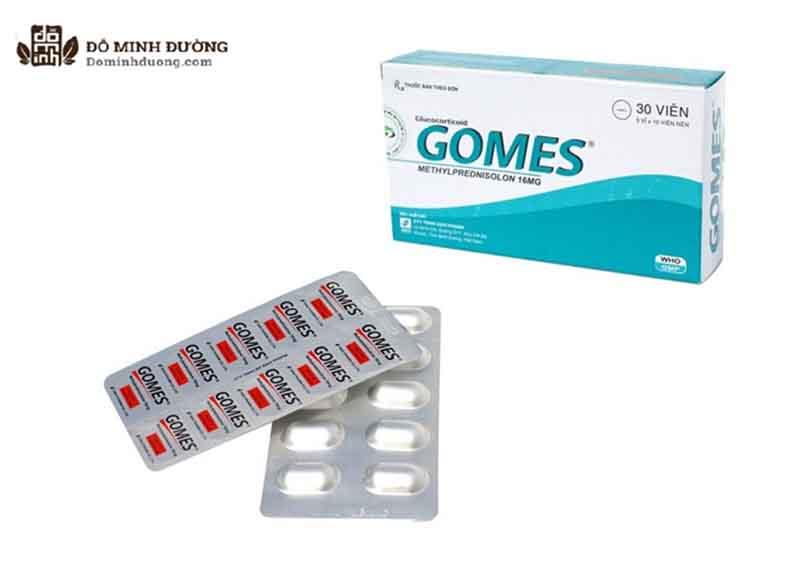 Thuốc Gomes với thành phần chính làMethylprednisolon 16mg