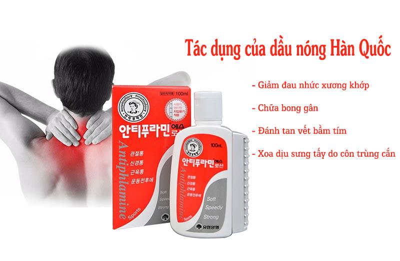 Dầu nóng của Hàn Quốc rất tốt cho người bị đau xương, cơ, khớp