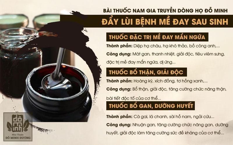 Bài thuốc chữa mề đay sau sinh của Nhà thuốc Đỗ Minh Đường