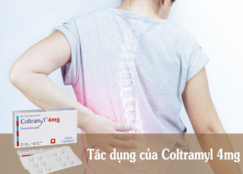 Thuốc Coltramyl 4mg tốt cho người đau cột sống thắt lưng, đau thần kinh tọa,…