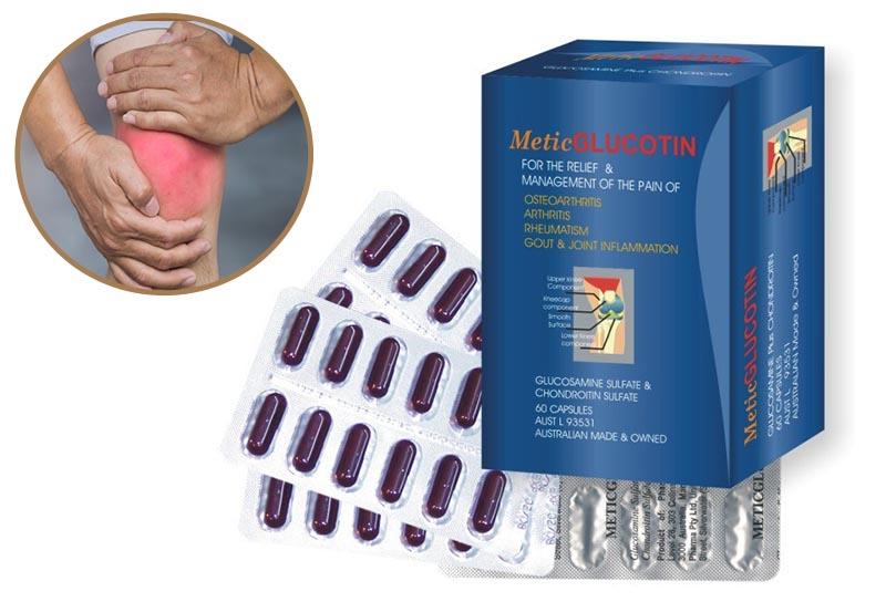 Metic Glucotin là thuốc giảm đau, chống viêm, chữa trị bệnh xương khớp
