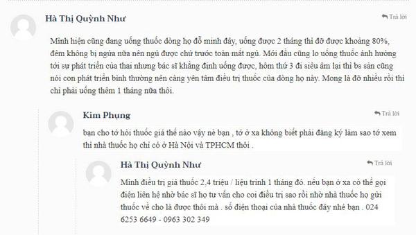 Phản hồi của chị Hà Thị Quỳnh Như về hiệu quả sử dụng bài thuốc Nam gia truyền dòng họ Đỗ Minh