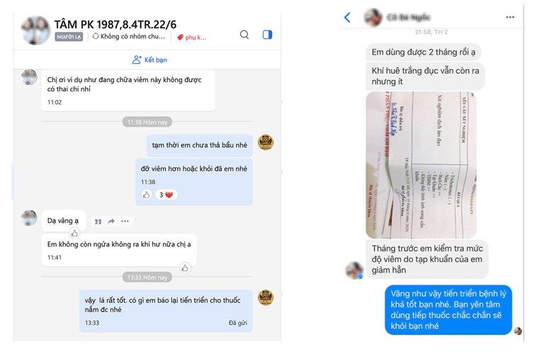 Nhiều chị em phản hồi rất tích cực về hiệu quả bài thuốc Phụ Khang Đỗ Minh