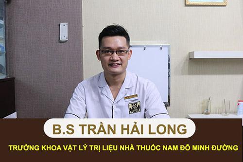 Bác sĩ Trần Hải Long, trưởng khoa vật lý trị liệu nhà thuốc nam Đỗ Minh Đường