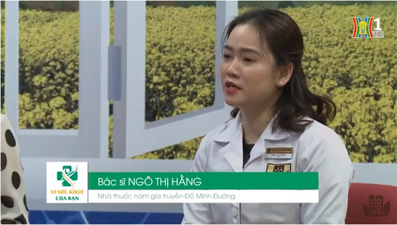 Bác sĩ Hằng tư vấn bệnh phụ khoa cho chị em trên sóng truyền hình