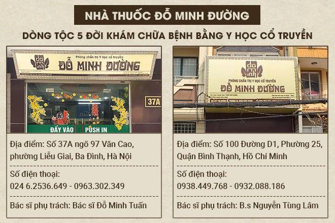 Nhà thuốc Đỗ Minh Đường - Đơn vị khám chữa bệnh uy tín, chất lượng