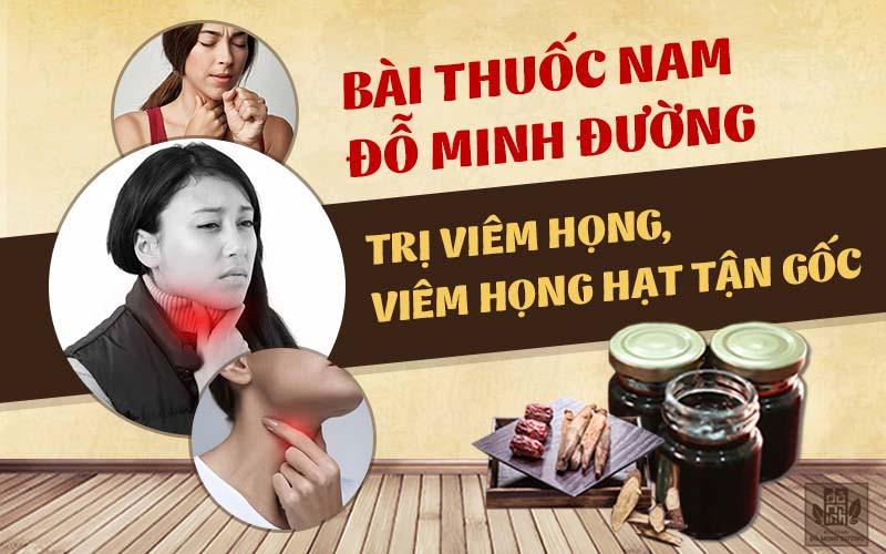 Trị viêm họng, viêm họng hạt theo bài thuốc nam Đỗ Minh Đường