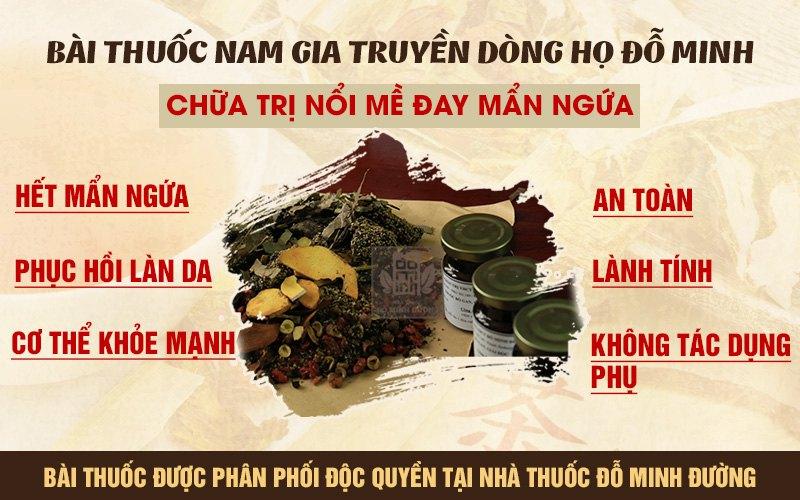 Bài thuốc nam gia truyền chữa trị mề đay mẩn ngứa của Đỗ Minh Đường