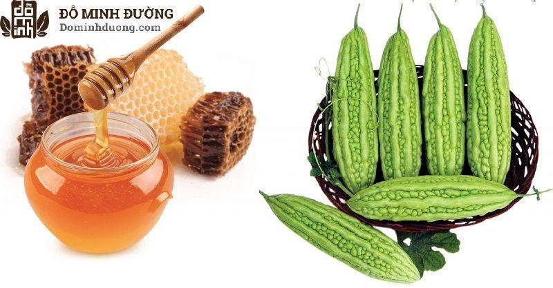 Chữa dị ứng da mặt bằng khổ qua và mật ong rất an toàn