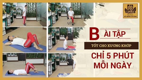 Các bài tập thể dục tốt cho người bị bệnh xương khớp