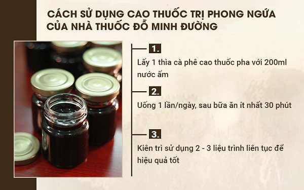 Cách sử dụng cao thuốc chữa phong ngứa của Đỗ Minh Đường