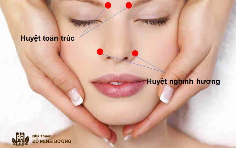 Cách chữa viêm xoang tại nhà bằng massage
