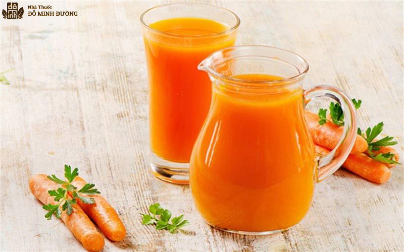 Nước ép cà rốt giúp thanh lọc cơ thể