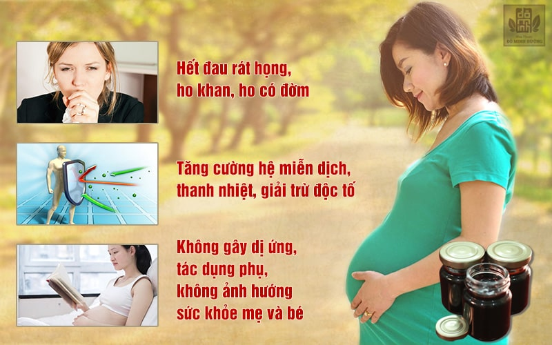 Cao thuốc Đỗ Minh Đường mang lại nhiều tác dụng đối với bệnh viêm họng ở phụ nữ mang thai và sau sinh