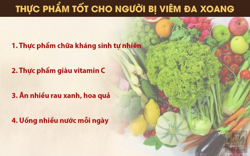 Dinh dưỡng cho người bị viêm đa xoang