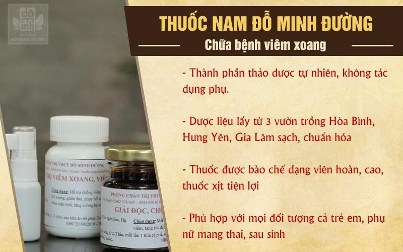 Ưu điểm của thuốc nam gia truyền chữa viêm xoang, viêm họng tại nhà thuốc nam Đỗ Minh