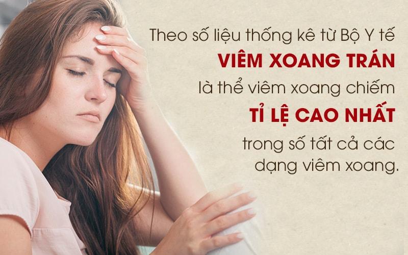 Viêm xoang trán căn bệnh ngày càng phổ biến ở người Việt