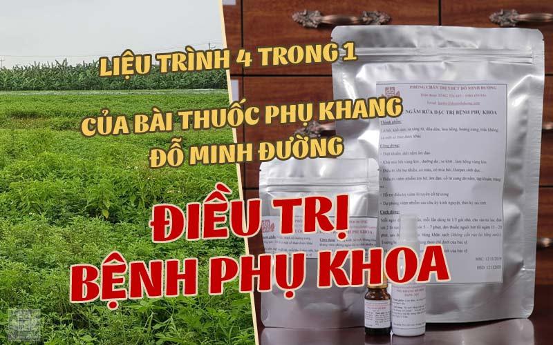 Bài thuốc Nam chữa bệnh phụ khoa của nhà thuốc Đỗ Minh Đường chúng tôi