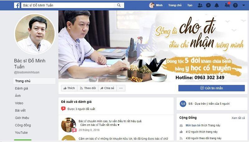 Trang fanpage chính thức của thầy thuốc Đỗ Minh Tuấn