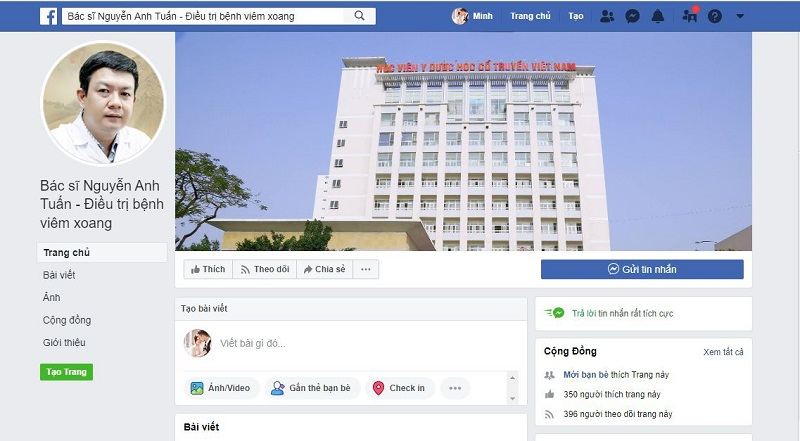Trang fanpage giả mạo thầy thuốc Đỗ Minh Tuấn