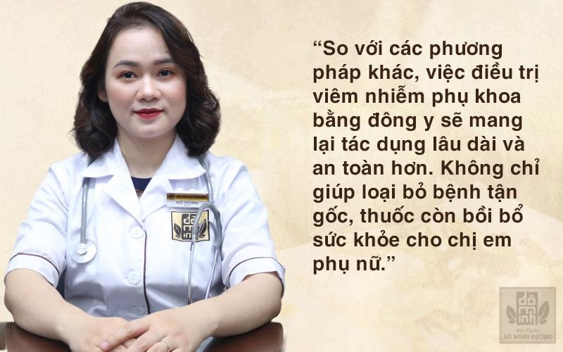 Bác sĩ Ngô Thị Hằng nhận định về phương pháp điều trị bệnh phụ khoa bằng đông y
