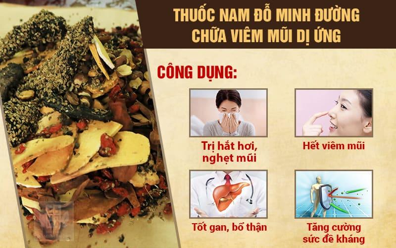 Công dụng bài thuốc chữa viêm mũi dị ứng ngày tết Đỗ Minh Đường