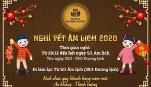 Lịch nghỉ tết 2020 Đỗ Minh Đường