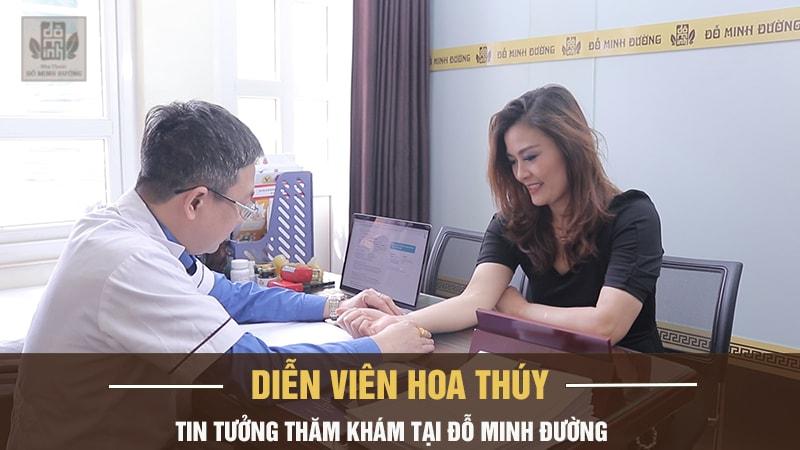 Thăm khám tại Đỗ Minh Đường, diễn viên Hoa Thúy đã chia sẻ lại quãng thời gian mắc bệnh