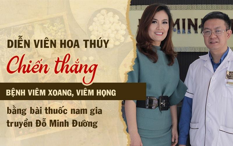 Nữ diễn viên Hoa Thúy đã khỏi bệnh sau 3 liệu trình thuốc của Đỗ Minh Đường