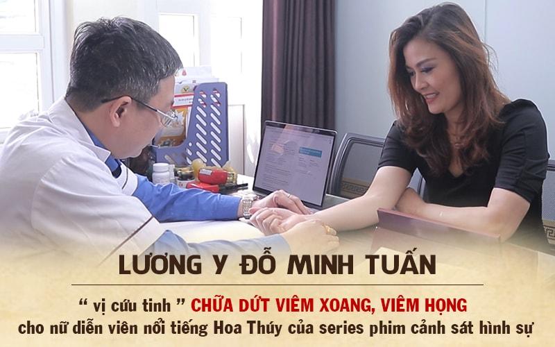 Lương y Đỗ Minh Tuấn chia sẻ về tình trạng viêm xoang của diễn viên Hoa Thúy