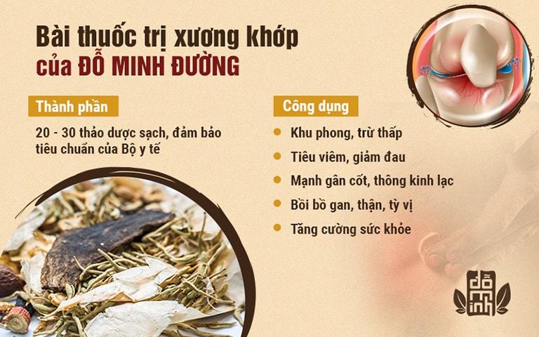 Công dụng 5 trong 1 của bài thuốc chữa đau vai gáy Đỗ Minh