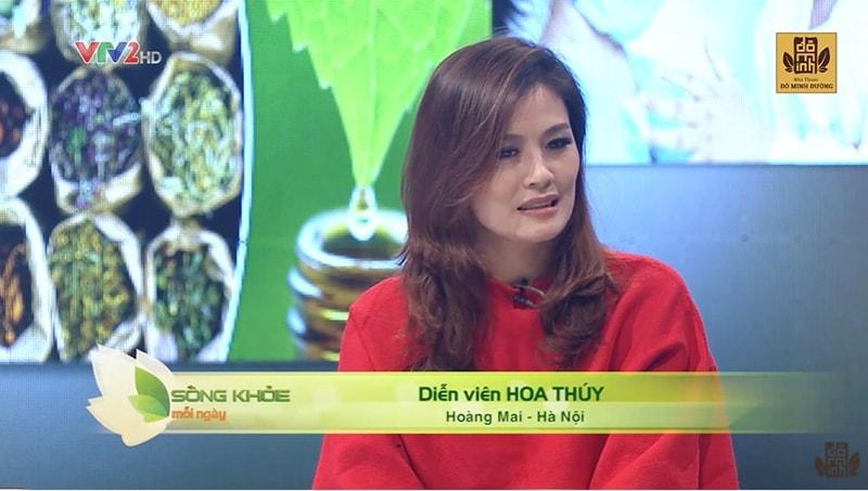 Diễn viên Hoa Thúy - Khách mời trong chương trình Sống khỏe mỗi ngày