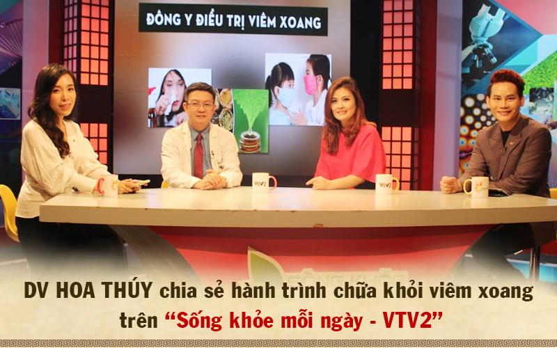 Diễn viên Hoa Thúy chia sẻ hiệu quả bài thuốc chữa viêm xoang Đỗ Minh Đường trên sóng truyền hình VTV2