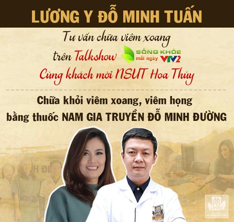 Lương y Đỗ Minh Tuấn đại diện Đỗ Minh Tuấn tư vấn trị bệnh trên vtv2