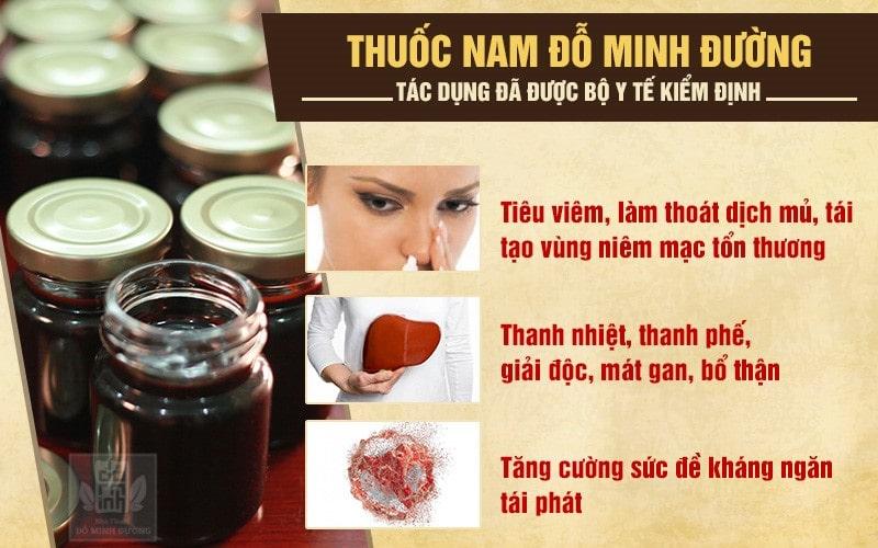 Bài thuốc Đỗ Minh Đường chữa viêm xoang hiệu quả