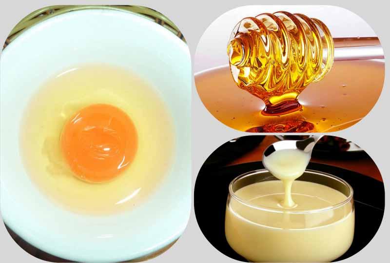 Trị dị ứng da mặt bằng mật ong và trứng gà
