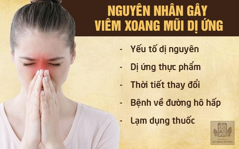 Yếu tố làm tăng nguy cơ bị viêm xoang mũi dị ứng